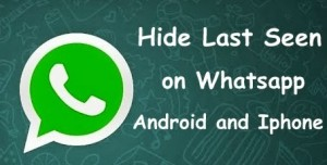 Hide last seen in whatsapp