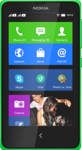 The New Affordable Nokia X+ Dual SIM smartphone.