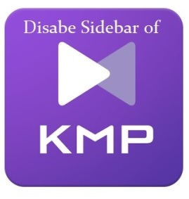 Disable KM Player Sidebar with Ads in Windows