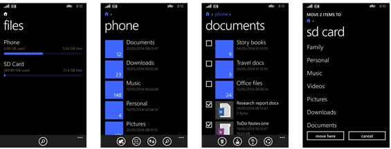 Free File Manager for Windows Phones Download