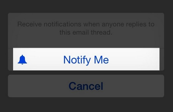 Turn on notifications for a particular email on iOS 8.x.x